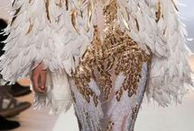 Feather and Fringe / Feathered and fringed fashion pieces