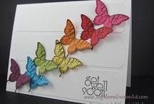 Butterflies Bird Cards