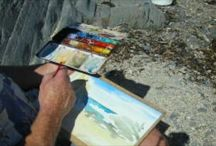 The Artist at work / The famous Pleydell-Pearce brothers caught in the act of creating ridiculously amazing watercolours!