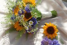 Bukiet ślubny z chabrami- inspiracje