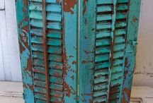 Muebles Caribe-Caribbean Paint El Taller de lo Antiguo / Ejemplos de muebles pintados en caribe mismo matiz que nuestro Esmalte Decorativo Extra Mate Extra matt Decorative enamel colour Caribbean de El Taller de lo Antiguo Ex. Painted Furnitures with same colour.