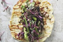 Taco Ideas / A taco is a traditional Mexican dish composed of a corn or wheat tortilla folded or rolled around a filling.