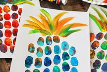 malowane palcami