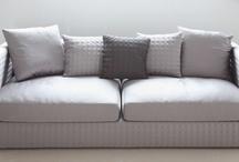Modern Classic Silk Fabric In Taupe & Dark Grey Capri 3-seater Sofa