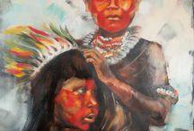 Roots / ethnic portrait, oil painting