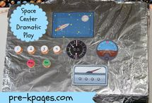 Space Exploration - Mpressarias / Inspiration for Language Immersion Camp Programs in Early Childhood - if you want to teach foreign languages to young children all you have to do is engage their imagination! www.analomba.com / by Ana Lomba Early Languages LLC