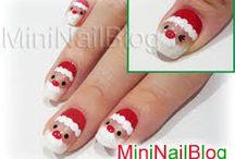 Santa Nail Art Design Ideas   Xmas Holiday 2013 2014 / #winter #nail #art #holidaynails #nailart #christmasnailart #santanails #2014