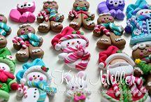 5 Kay Miller sneeuwpoppetjes/kerstmannetjes