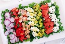 Cobb Salads / Almost too pretty to toss together....almost.  This is a group board; leave me a note on any of my pins if you'd like to join.  Only the best recipes and the prettiest photos, please.