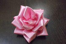 rose en tissus