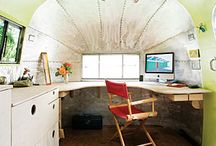 I Dream of Airstream / I dream of a silver airstream art studio.