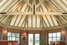 Venables Oak project: Mill House / Venables Oak oak porch, oak trusses, garden room, doors, windows and flooring.