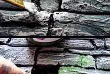 making stone fence
