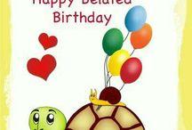 Late birthday wishes.