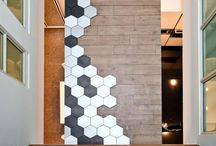 Innovative Laminate Ideas / Bold hexagon tiles transition beautifully into laminate planks. Browse these innovative laminate ideas and get inspired.