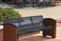 Stone Benches / If you're looking for a traditional look or the ideal park bench, Upbeat's stone benches are the perfect seating solution with year-round performance.