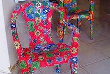 cadeiras plásticas revestidas