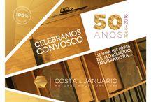 50 Anos Costa & Januário - Natural Wood Furniture / Celebre connosco este marco da Costa e Januário... Acompanhe-nos para visualizar todas as novidades. www.grupocj.pt