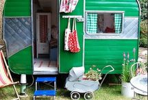 Retro caravan cubby house / My dream of having a caravan that's a cubby house in our backyard. Perfect for playing barbies and tea parties, then sleepovers or my retreat later on. Now how the heck do we get it in our backyard?