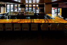 Onyx Bar, Delray Beach, Florida / Amber Gold Onyx Bar