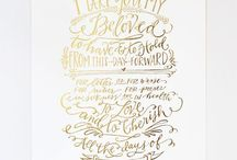 wedding vows gold embossed