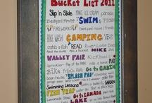 School Holiday Bucket List