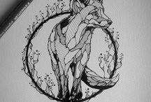 Tattoo Inspiration / Some ideas for a fox tattoo and also a friendship tattoo of a spear
