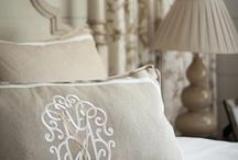 Curtains, bedding, pillows, linen....... / by Marissa Bruwer