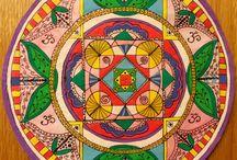 Mandalas / My mandalas, influenced by yoga, hinduism, buddhism, spirtuality and nature
