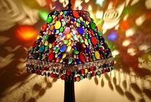 lampy witraz