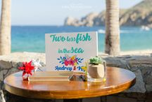 """Audrey & Kip / Fun, colorful, Cabo beach wedding. Inspidered in mexican """" Loteria"""" and """" Dia de Muertos""""  or """"Day of the Death"""""""