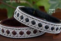 Leather/Tin - Sami Bracelets / Tennbroderier, lädersmycken