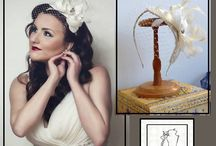 Tonia wears wedding fascinator with veil by ''where is the cat?'' / fascinator hat in teardrop shape