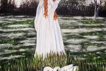 Elluna Art / The amazing Goddess inspired artwork of Elluna, which can be seen in the Glastonbury Goddess Temple x