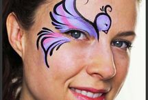 Over the Eye - Face Painting Design