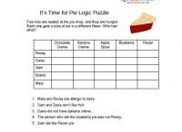 Puzzles and activities for school