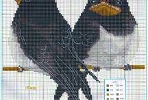 siuvinejimas kryzeliu pauksciai