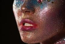 • glitter makeup •