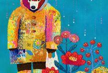 Kimika Hara / These are my works. embroidery,needlework,textile art,illustration,and more 原公香の作品集です。刺繍イラストレーションやぬいぐるみなど制作しています。