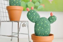 Crochet cactus, flower, wreath..