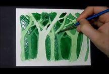 negatív akvarell
