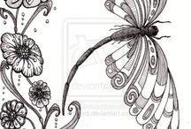 бабочки стрекозы