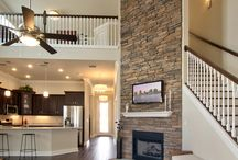 """The Madison Loft / This is Tommy Williams Homes' 2nd most famous home - as it was featured on HGTV's House Hunters.  The 20' floor to ceiling stone fireplace is what sold the """"hunters."""