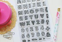 Sketchy Alphabet Stamp Set