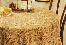 Obrus na drutach