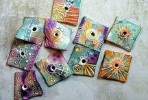 FIMO nápady - křídy (chalks), pastelky, fixy, barvy
