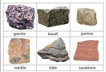 rocks and minerals / by Alex Roman