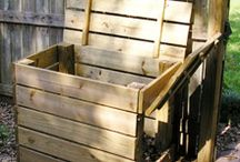compost  bin  and garden boxes