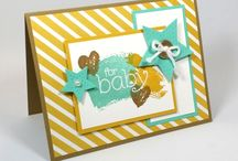 For Baby / Simple & pretty baby shower & baby card ideas using Stampin' Up! products. Card making & inspiration posted daily http://stampinpretty.com / by Mary Fish - Stampin' Up! Demonstrator