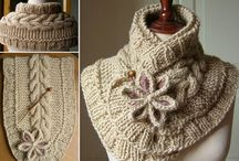 knitted moon flower scarf